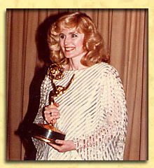Louise Shaffer accepting her Emmy Award for Best Supporting actress in a Daytime Drama.
